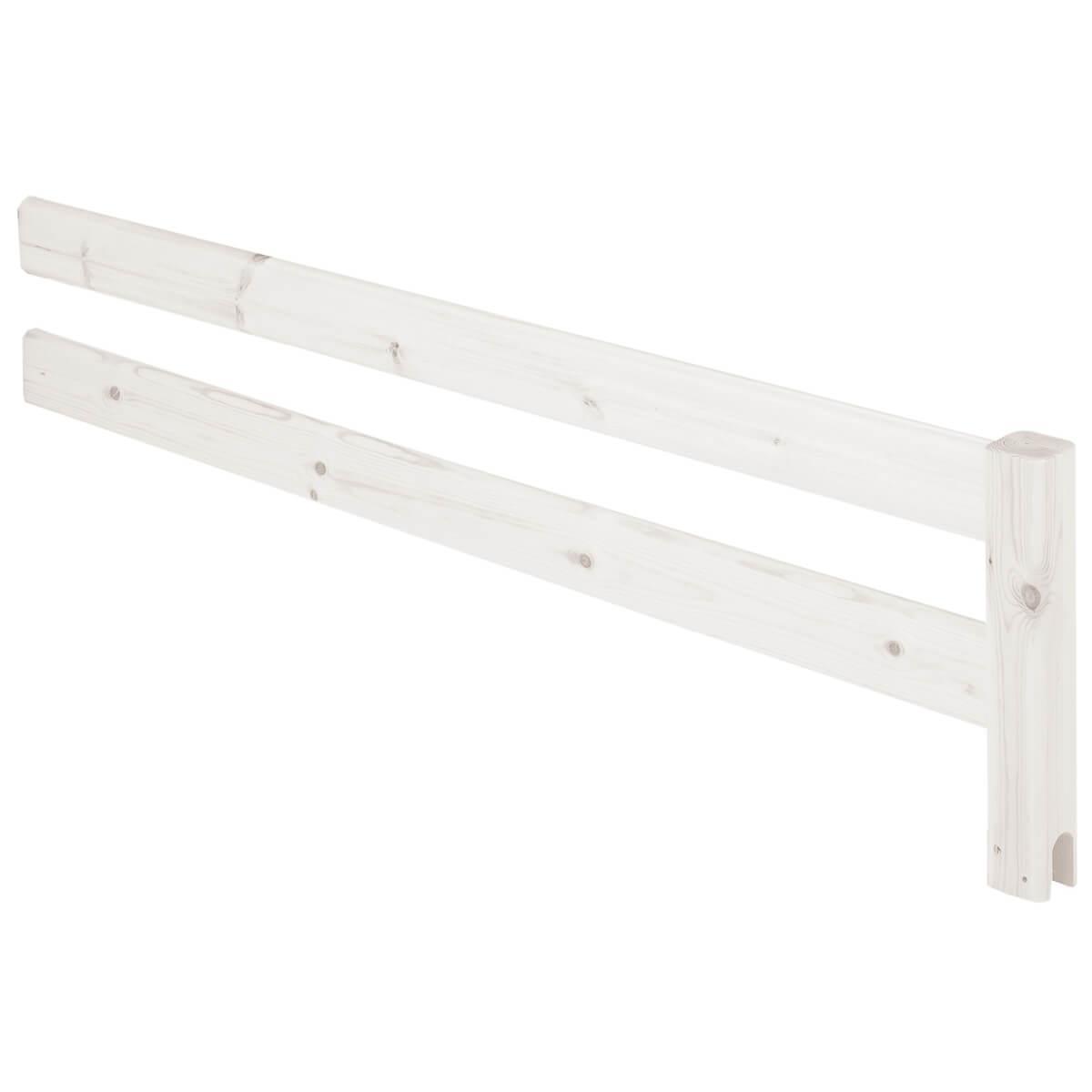 CLASSIC by Flexa Barrière 3/4 pour Lit enfant 90x200 cm avec échelle ou plate-forme blanchi