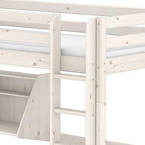 CLASSIC by Flexa Lit mezzanine 90X190 + échelle droite avec bureau Click-On et module de couchage casa (hors matelas)