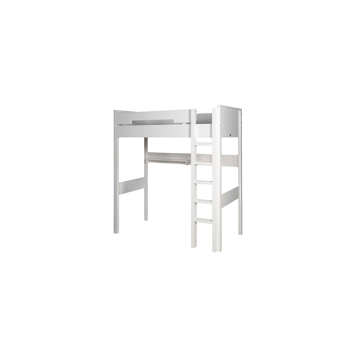 COMBIFLEX by Bopita Lit mezzanine XL 90X200 cm avec échelle droite Blanc