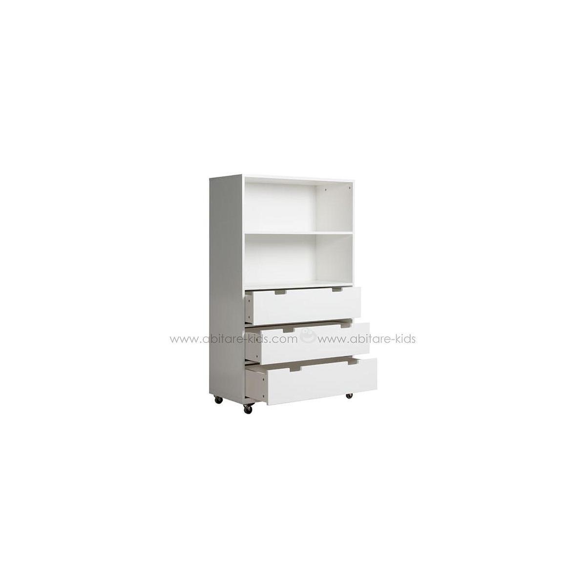 COMBIFLEX by Bopita Petite armoire à roulettes 2 espaces + 3 tiroirs - Large