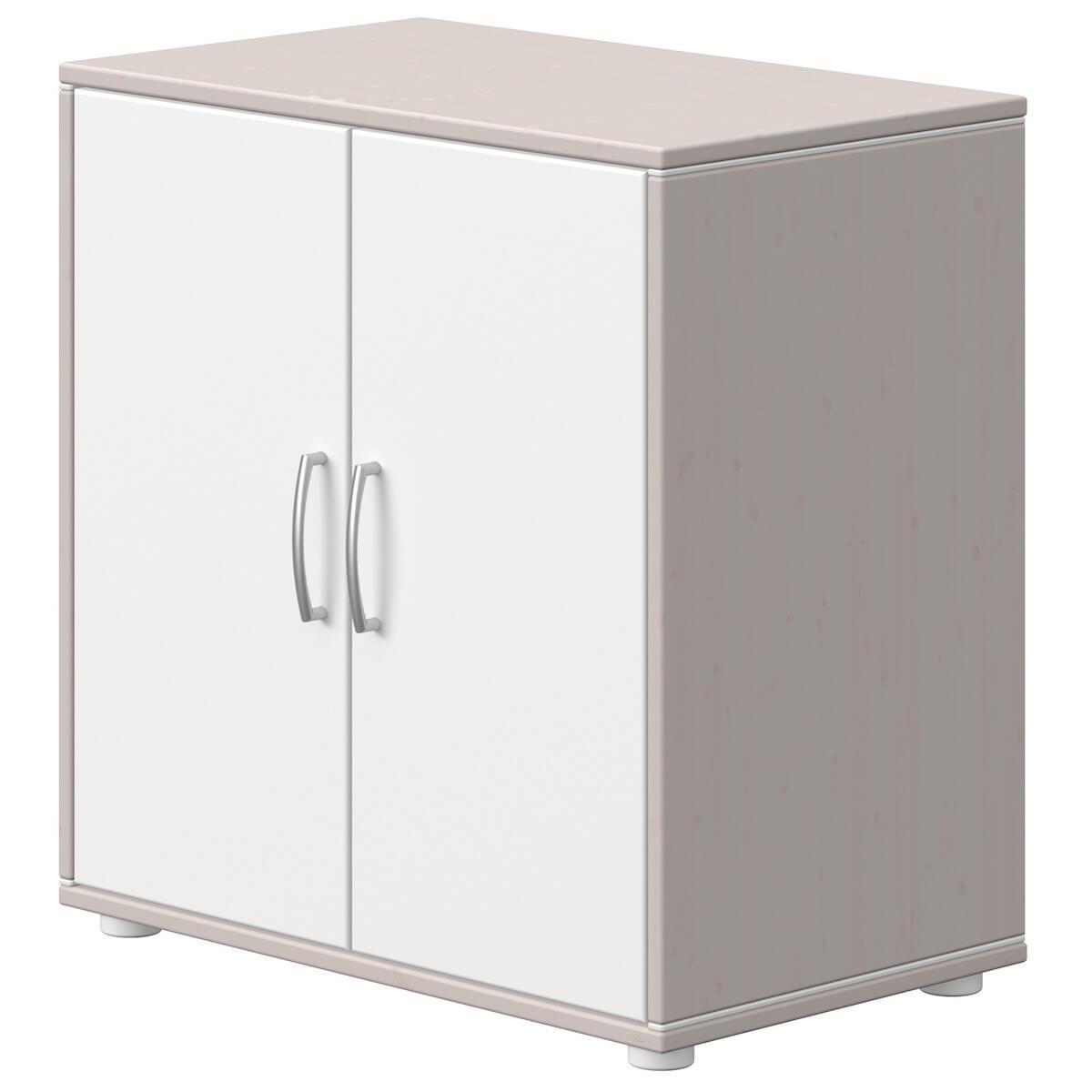 Commode 2 portes CLASSIC Flexa grey washed-blanc