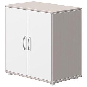 Commode 2 portes CLASSIC Flexa grey washed-blanc