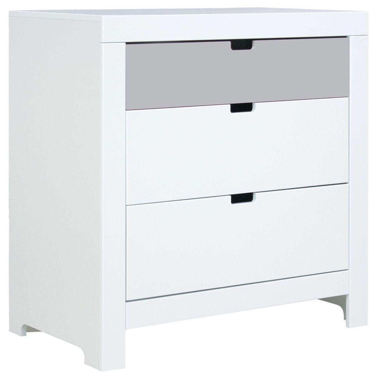 Commode 3 tiroirs BABYFLEX Bopita pure grey