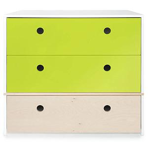 Commode 3 tiroirs COLORFLEX façades tiroirs lime-lime-white wash