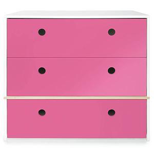Commode 3 tiroirs COLORFLEX façades tiroirs pink