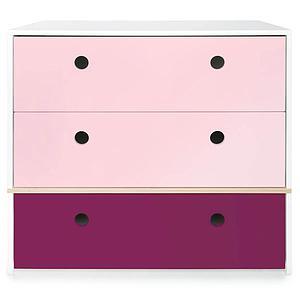 Commode 3 tiroirs COLORFLEX façades tiroirs sweet pink-sweet pink-plum