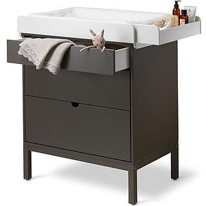 Commode 3 tiroirs HOME Stokke gris brume