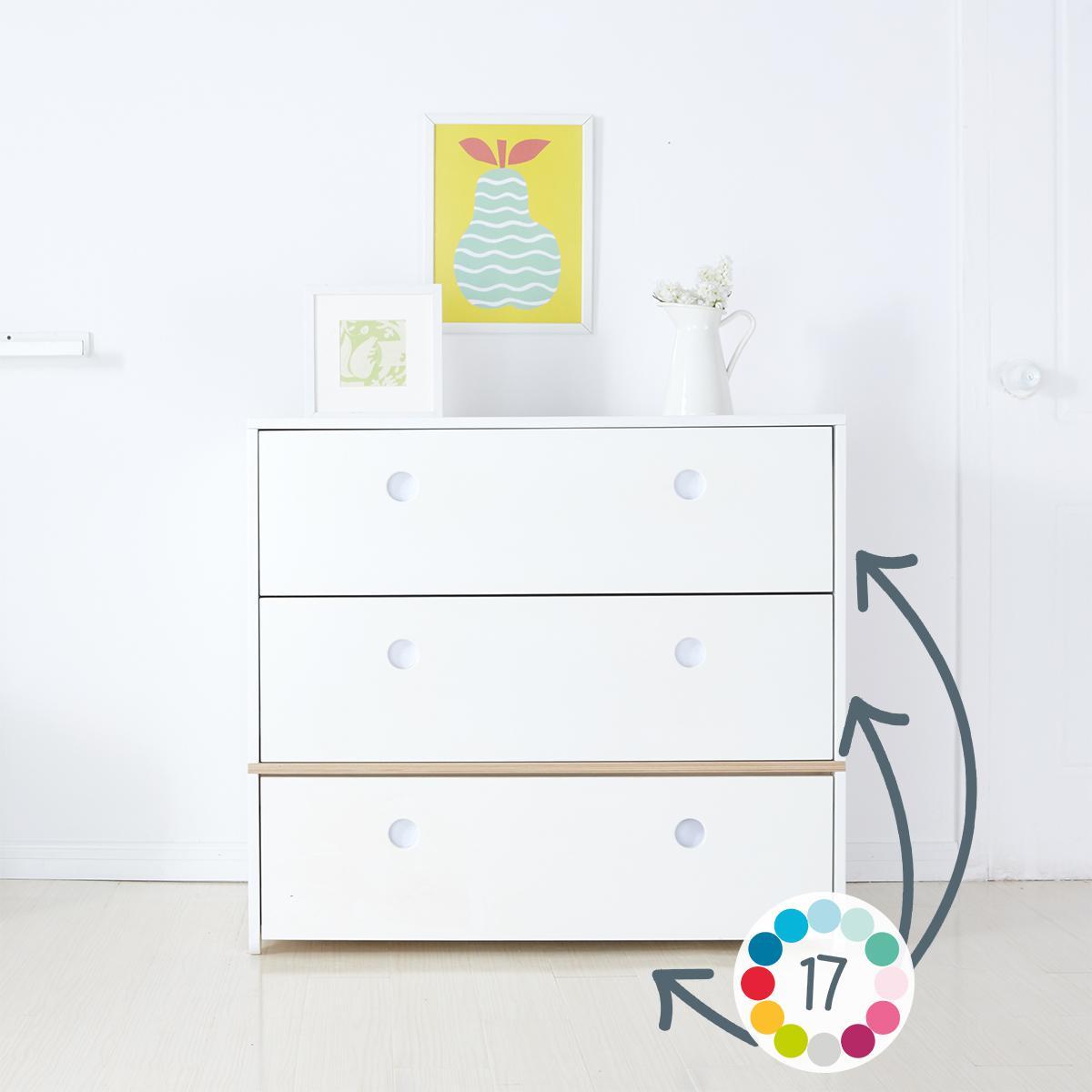 Commode 3 tiroirs hors façades tiroirs COLORFLEX Abitare Kids