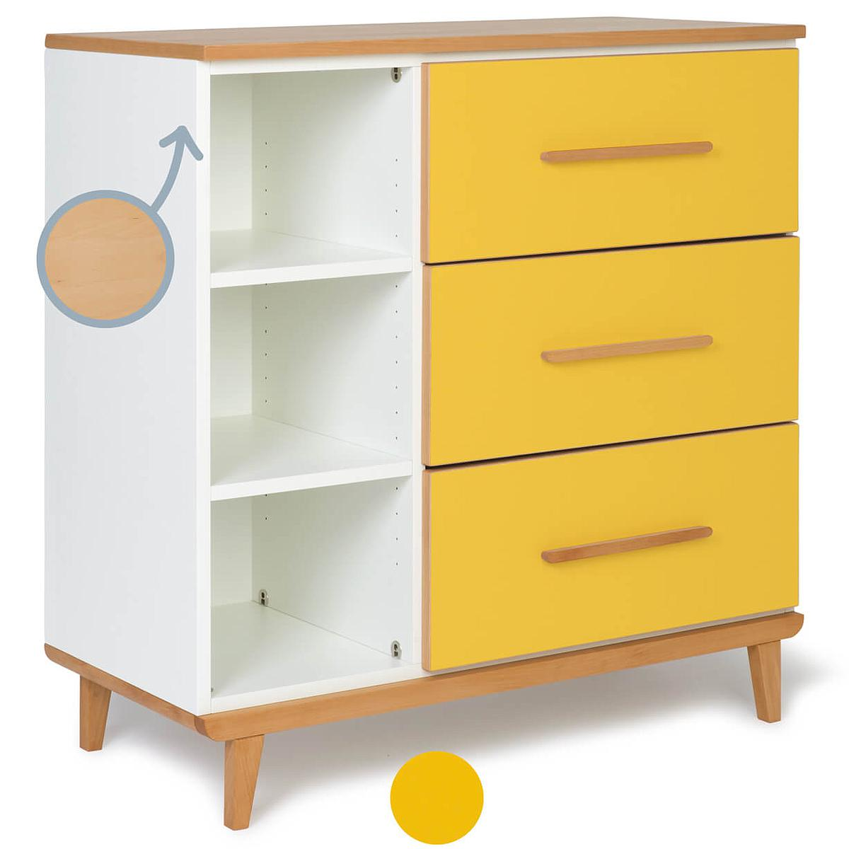 Commode 3 tiroirs NADO By A.K. sunshine yellow