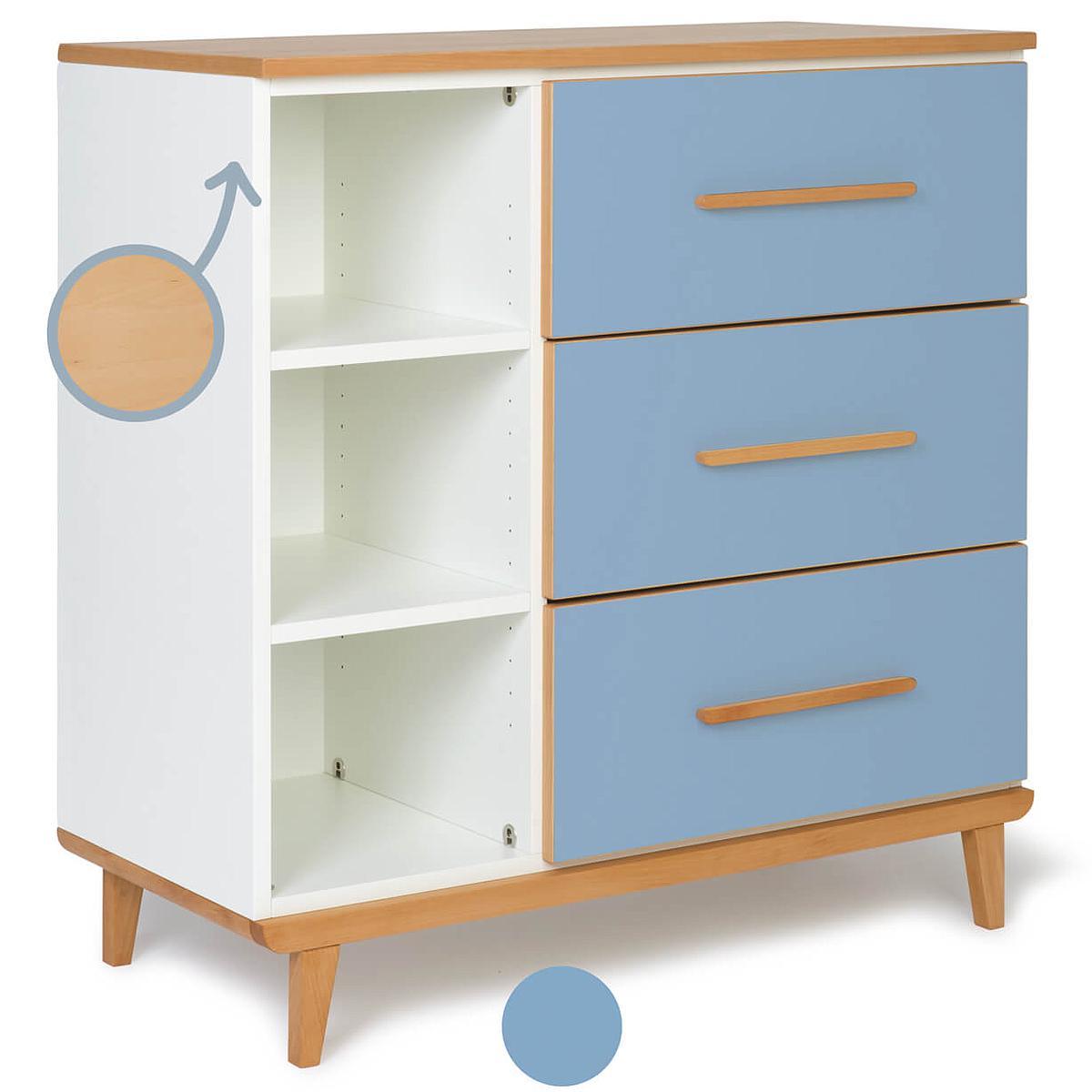 Commode 3 tiroirs NADO capri blue