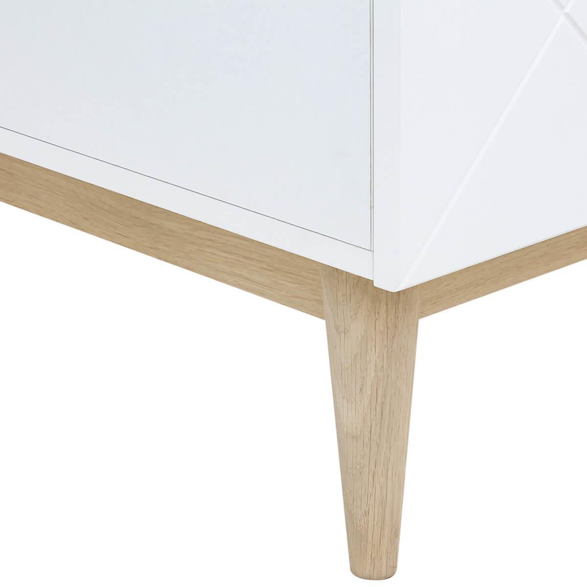 Commode 3 tiroirs PARIS Bopita Blanc-Chêne