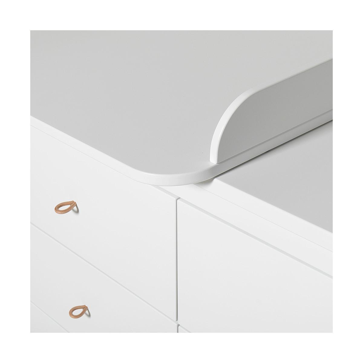Commode 6 tiroirs plan à langer small WOOD Oliver Furniture blanc-chêne