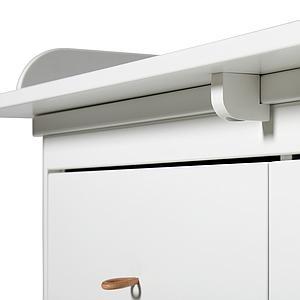Commode 6 tiroirs plan à langer xl WOOD Oliver Furniture blanc-chêne