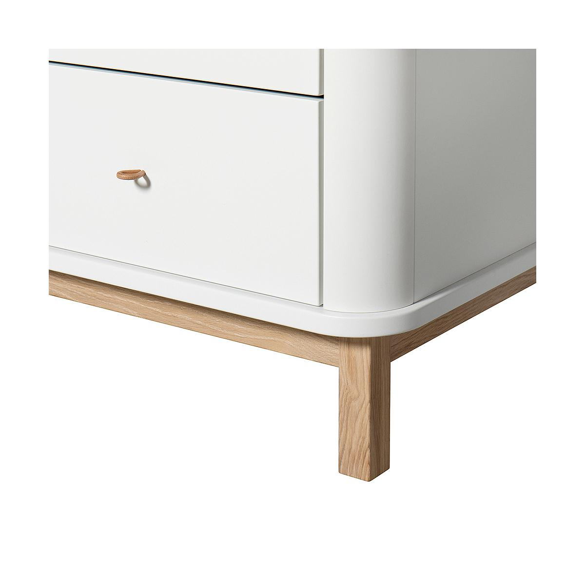 Commode 6 tiroirs WOOD Oliver Furniture blanc-chêne