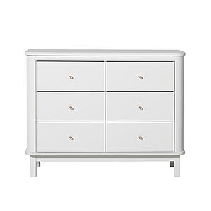 Commode 6 tiroirs WOOD Oliver Furniture blanc