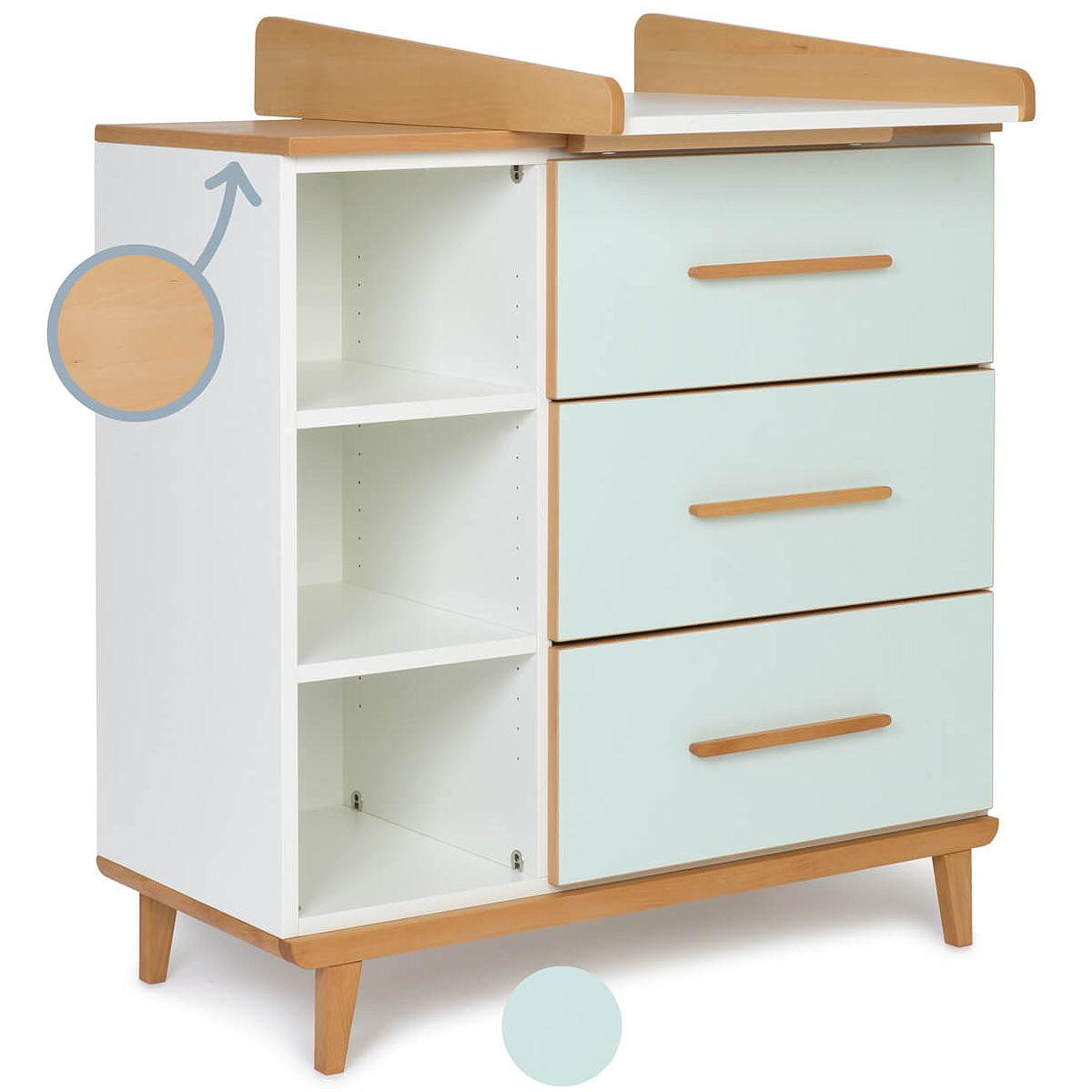 Commode à langer 3 tiroirs NADO By A.K. mint