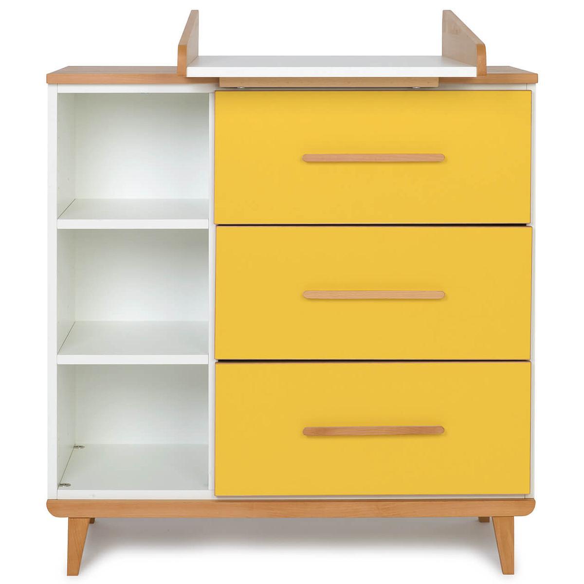 Commode à langer 3 tiroirs NADO By A.K. sunshine yellow