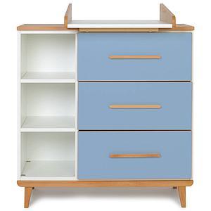 Commode à langer 3 tiroirs NADO capri blue