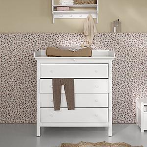 Commode à langer 4 tiroirs SEASIDE Oliver Furniture blanc