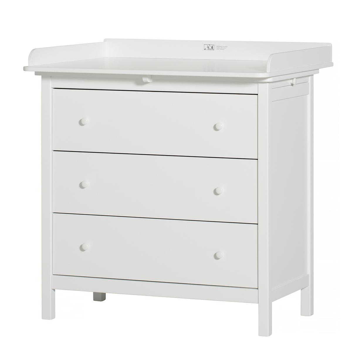 Commode à langer étagère extensible SEASIDE Oliver Furniture blanc