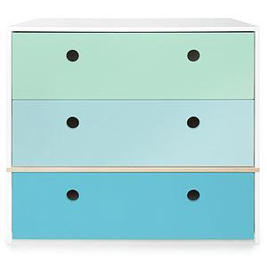 Commode COLORFLEX façades tiroirs mint-sky blue-paradise blue