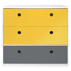 Commode COLORFLEX façades tiroirs nectar yellow-nectar yellow-space grey