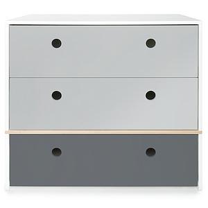 Commode COLORFLEX façades tiroirs pearl grey-pearl grey-space grey