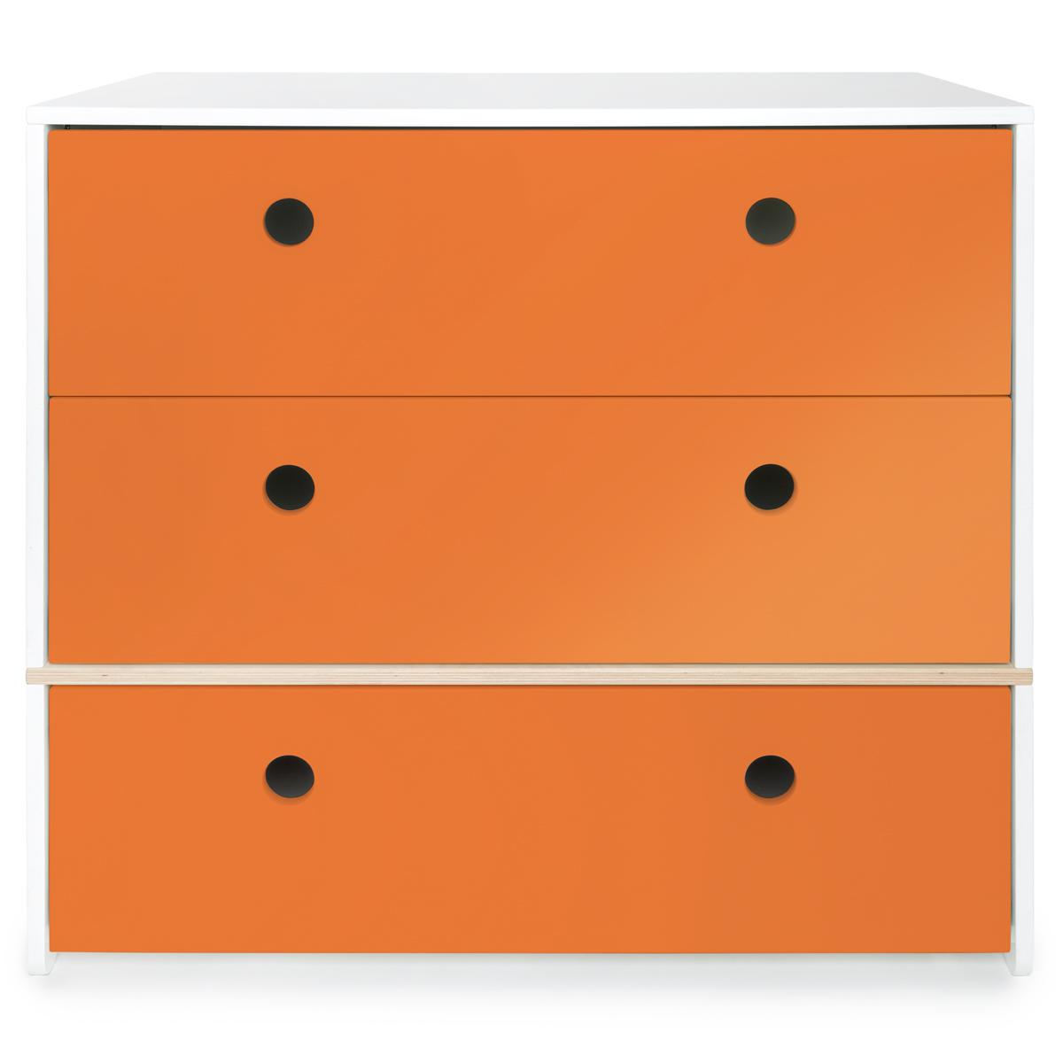Commode COLORFLEX façades tiroirs pure orange