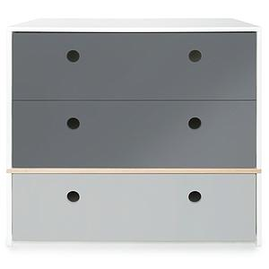 Commode COLORFLEX façades tiroirs space grey-space grey-pearl grey