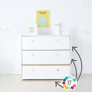 Commode COLORFLEX façades tiroirs white