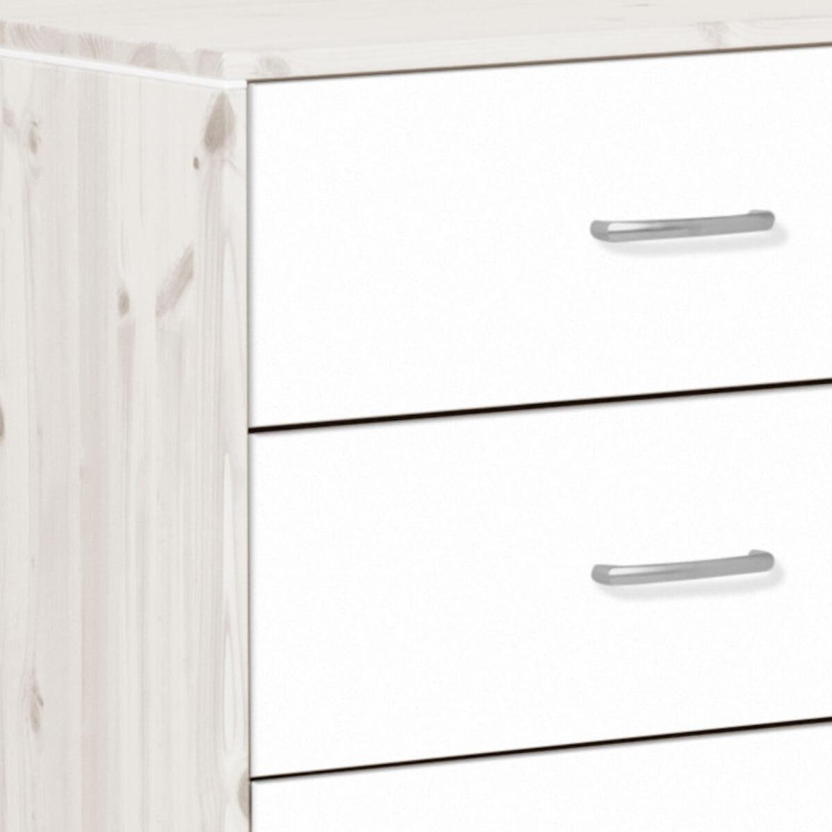 Commode enfant 3 tiroirs NEW Classic FLEXA blanchi - blanc - blanc
