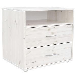 Commode enfant élément 2 tiroirs NEW Classic FLEXA blanchi - blanchi - blanc