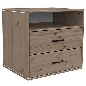 Commode enfant élément 2 tiroirs NEW Classic FLEXA terra - terra - blanc