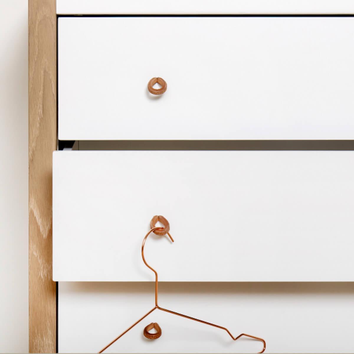 Commode WOOD Oliver Furniture blanc-chêne