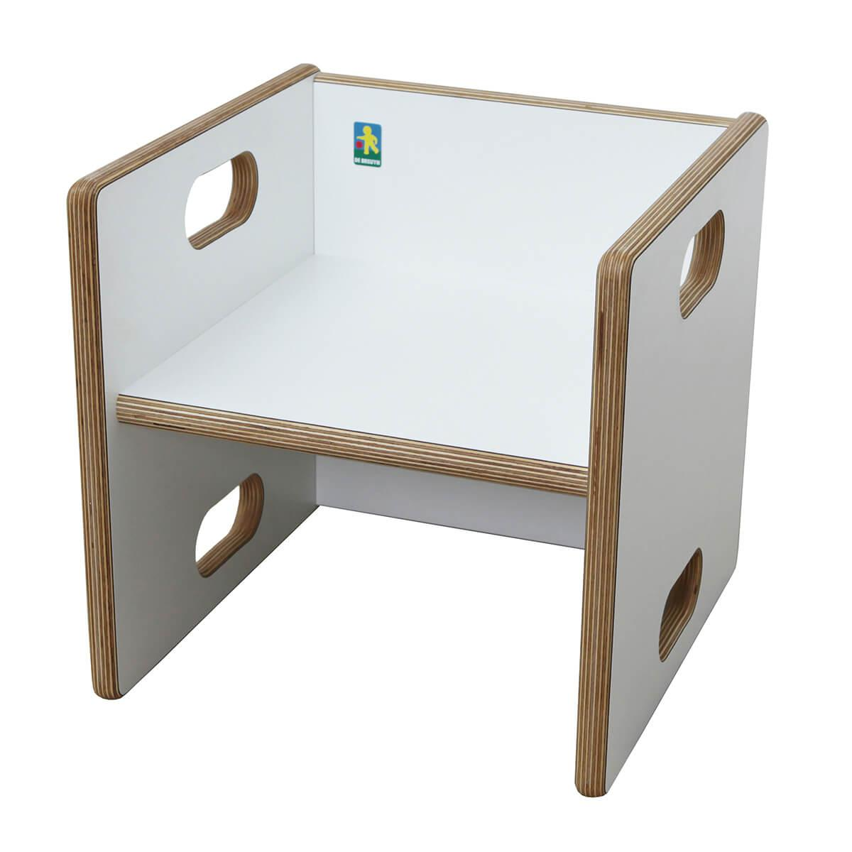 Convertible chair ZIGGY Debreuyn Multiplex white HPL - seat white