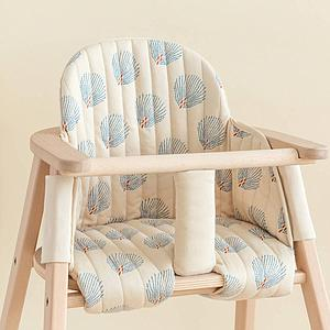 Coussin chaise haute GROWING GREEN Nobodinoz blue gatsby-cream