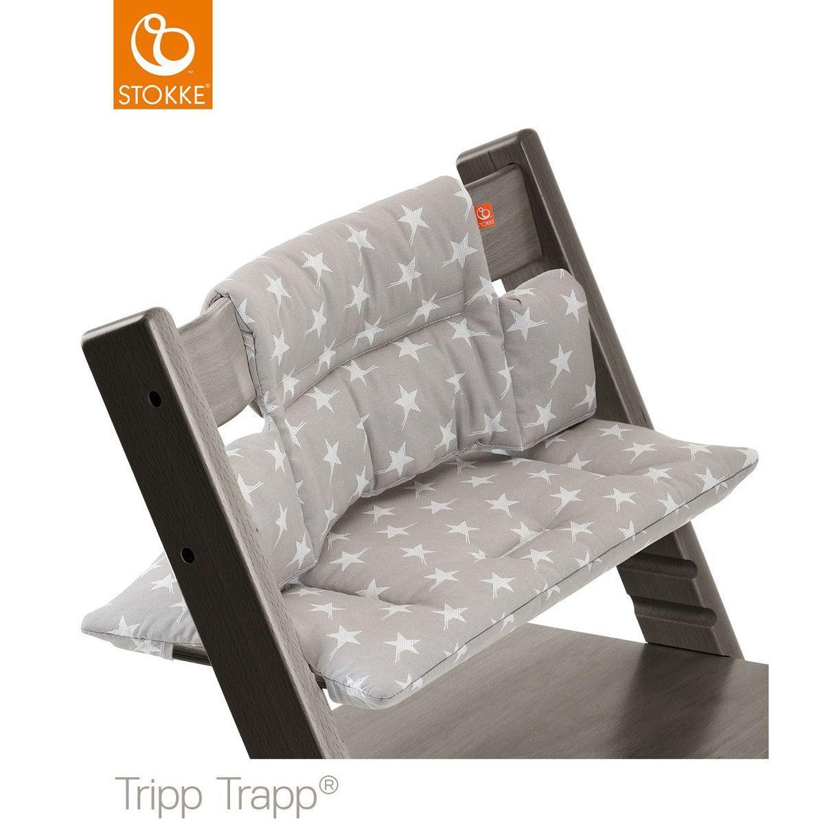 Coussin chaise haute TRIPP TRAPP Stokke étoiles grises