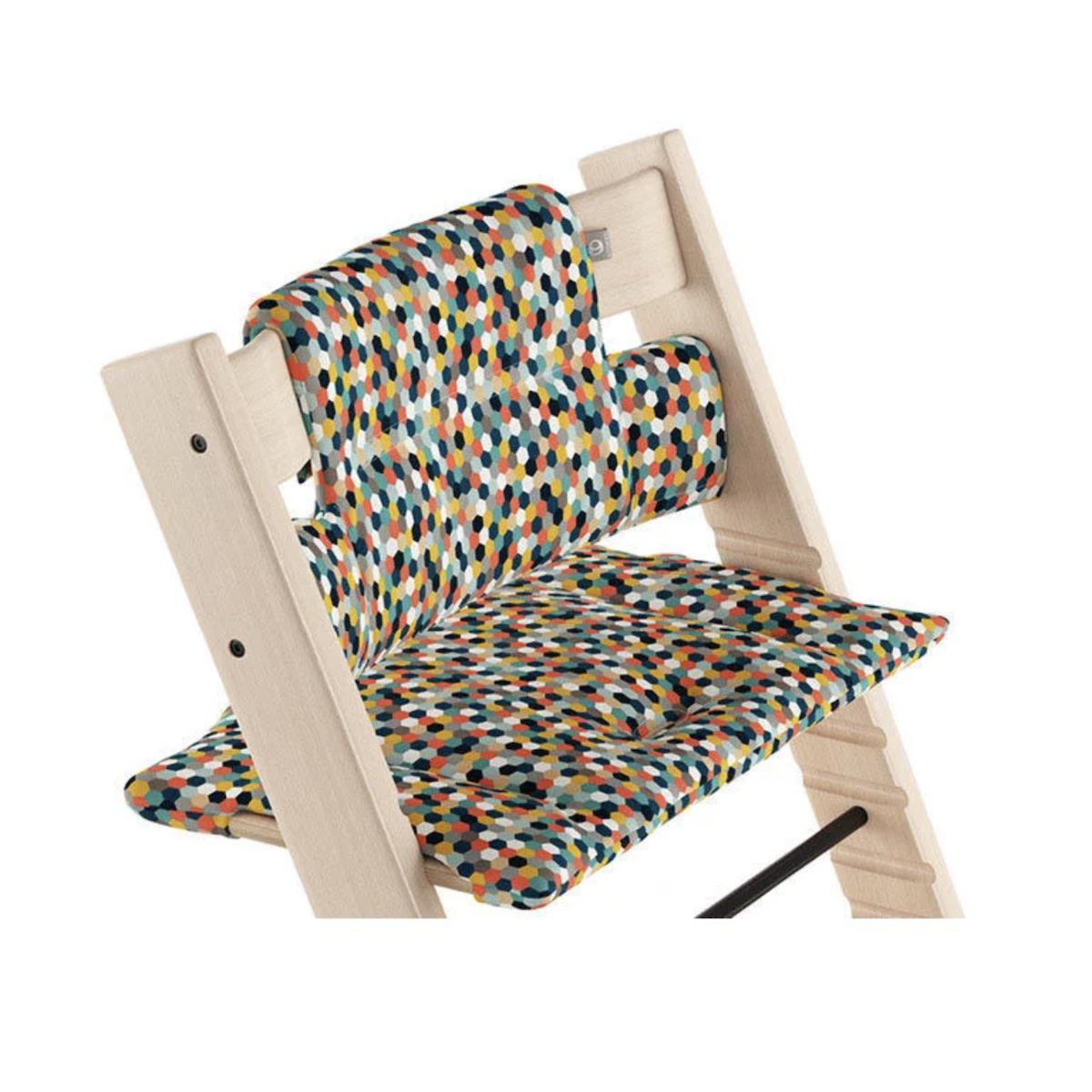 Coussin chaise haute TRIPP TRAPP Stokke Honeycomb Happy