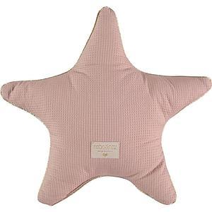 Coussin étoile 40x40cm ARISTOTE ELEMENTS Nobodinoz misty pink