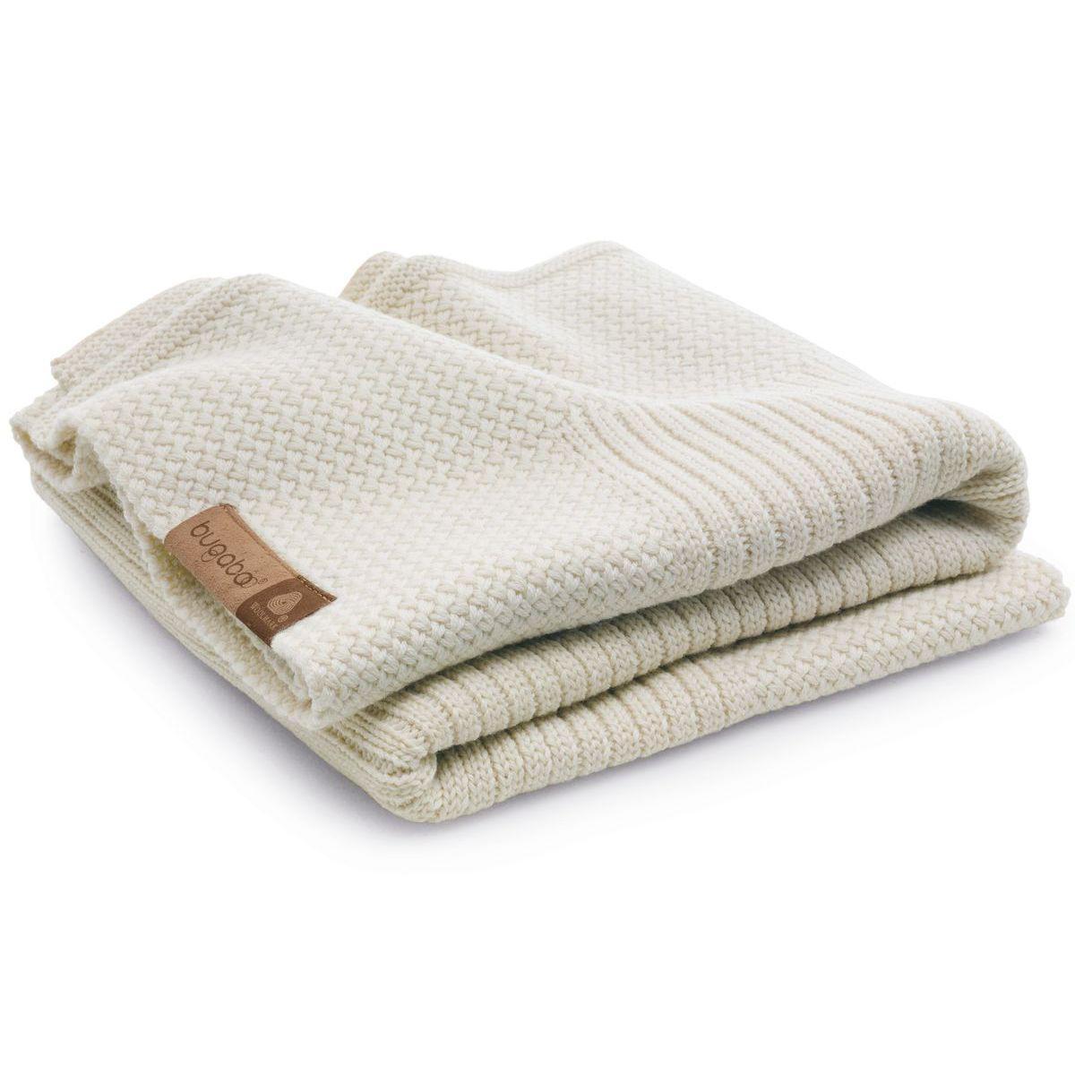 Couverture laine Bugaboo blanc cassé chiné