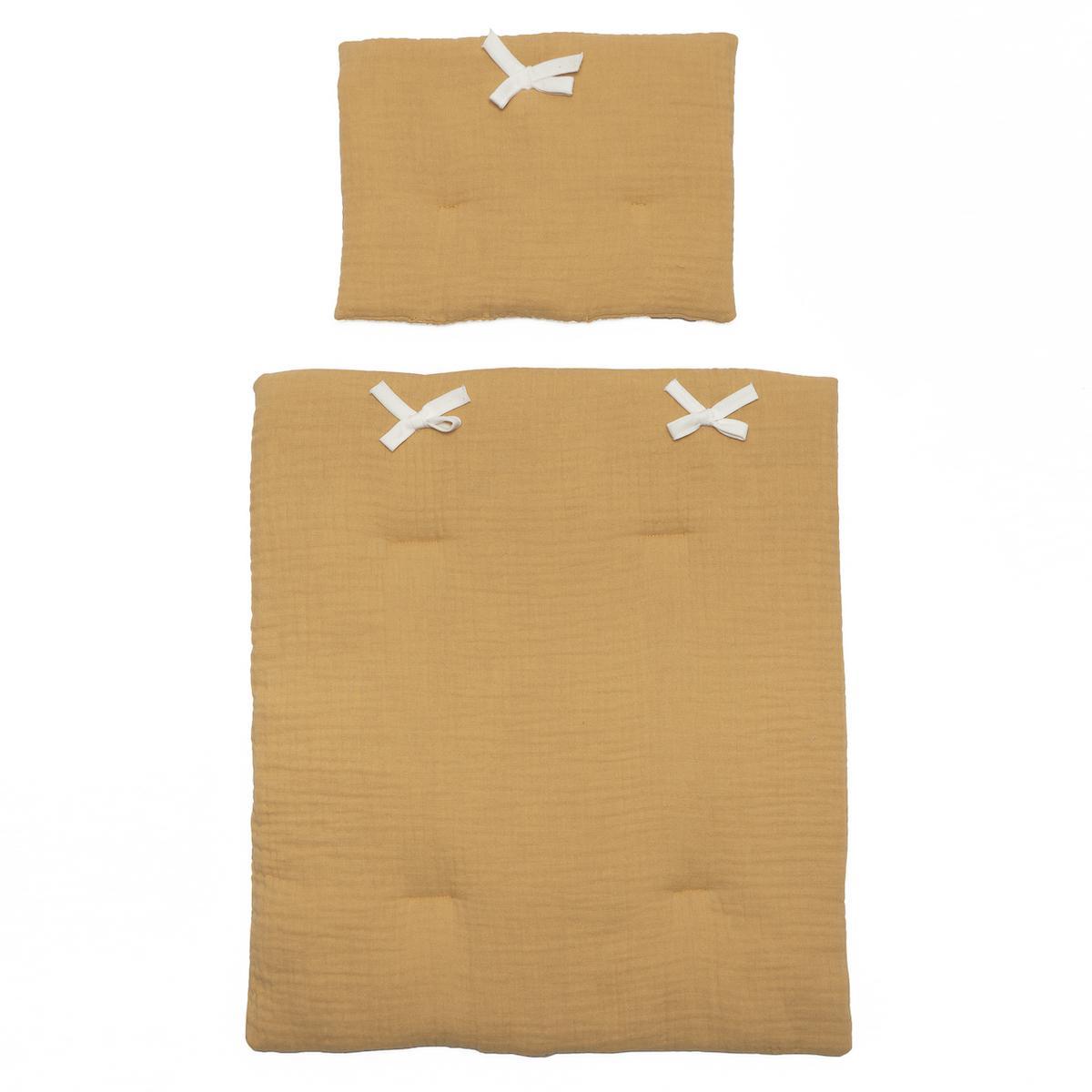 Couverture-oreiller poupée BOBBLE moutarde
