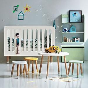 DOTS by Flexa Lit bébé à barreaux 60x120 cm Blanc