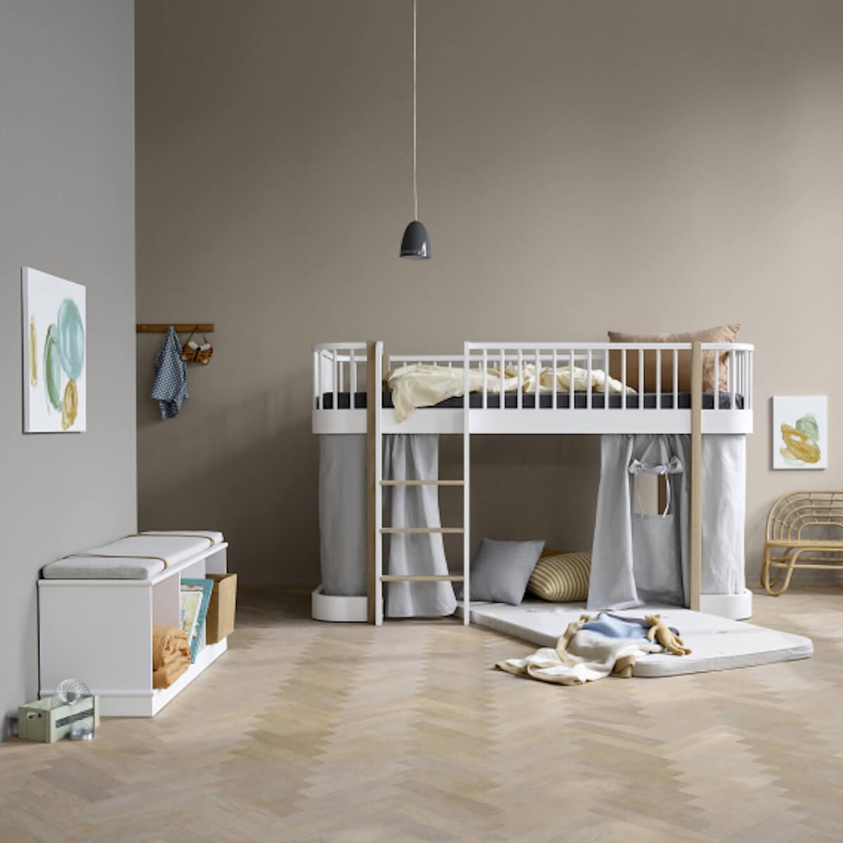 Etagère 106x36cm WOOD Oliver Furniture blanc