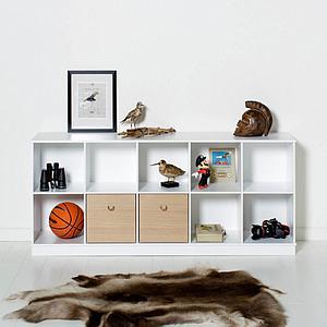 Etagère 174x71cm WOOD Oliver Furniture blanc