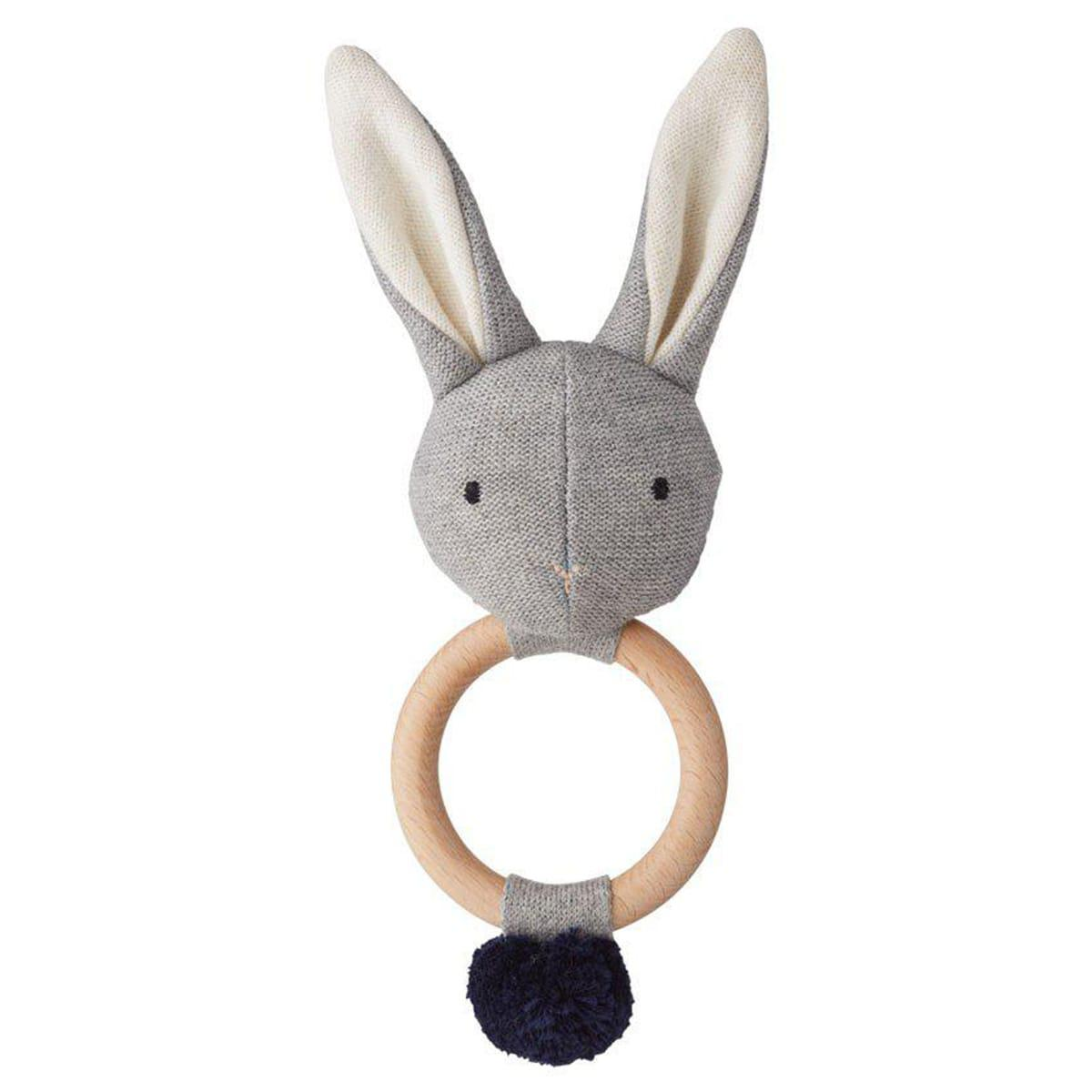 Hochet Rabbit ARIA Liewood gris mélange