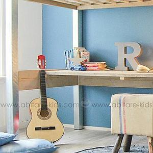 INDUSTRIEL by DUTCHWOOD Lit mezzanine avec bureau