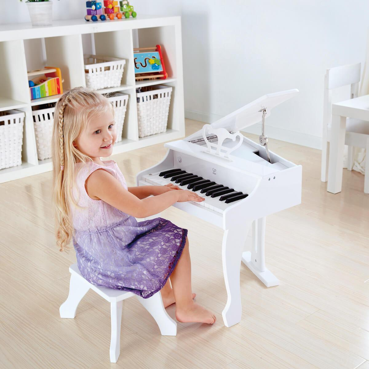 Instrument musique DELUXE GRAND PIANO Hape white
