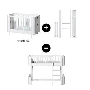 Kit conversion lit bébé-lit mi hauteur MINI+ WOOD Oliver Furniture blanc