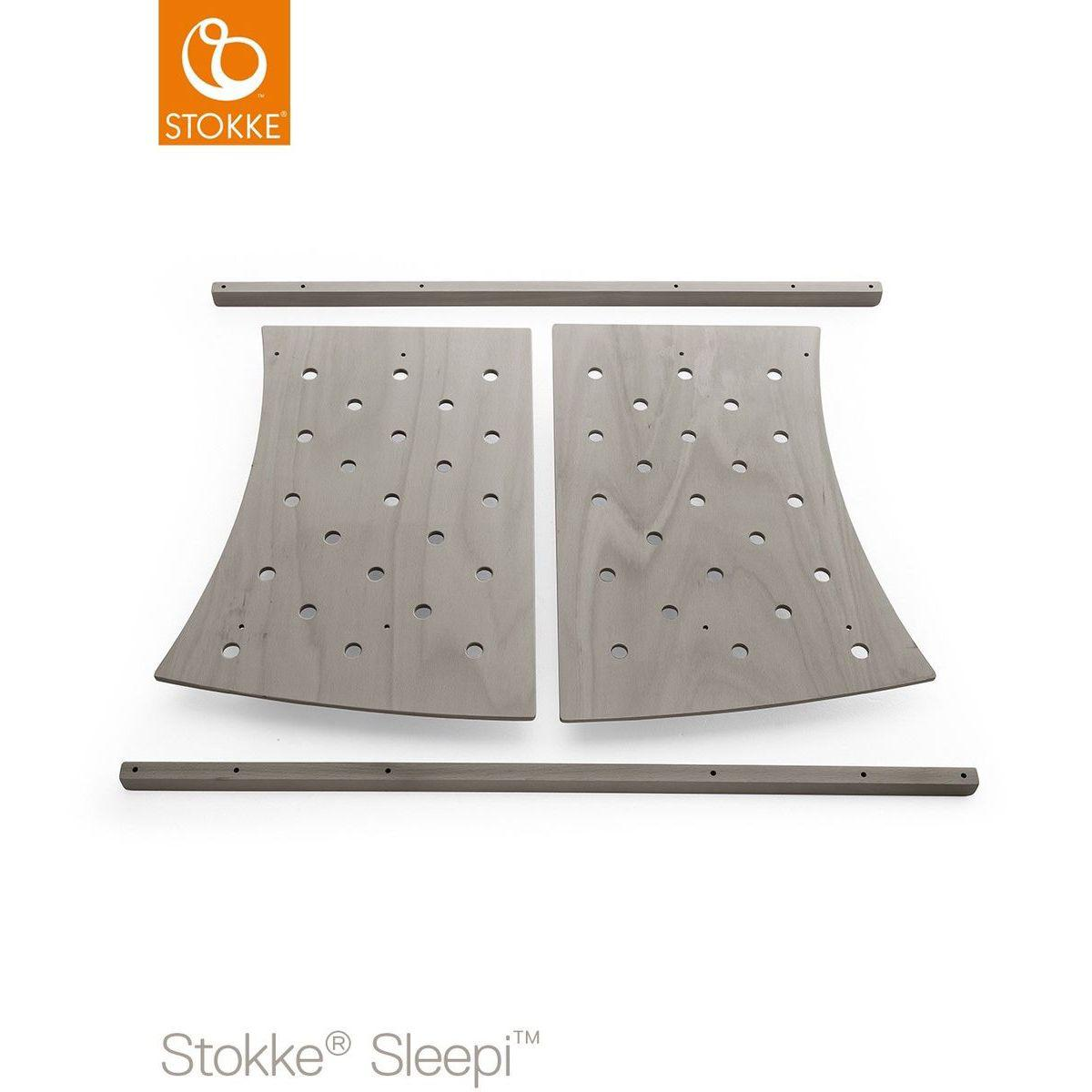 Kit extension lit junior SLEEPI Stokke gris brume
