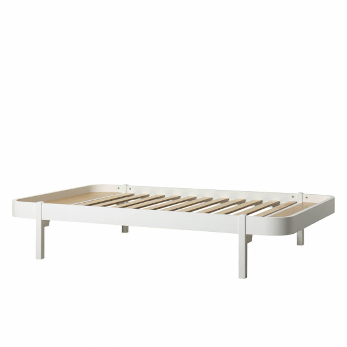 Lit 120x200cm WOOD LOUNGER Oliver Furniture blanc